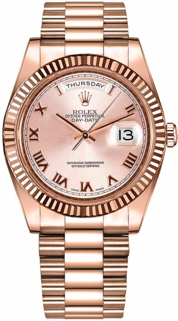 Pajak rolex-day-date-ii-president-pink-gold-218235 RM70,000